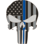 Thin Blue Line ★ Bring The Pain Sticker ★ Made in the USA