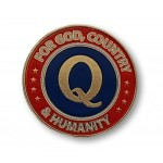 For God, Country and Humanity Q Lapel Pin ★ American Made