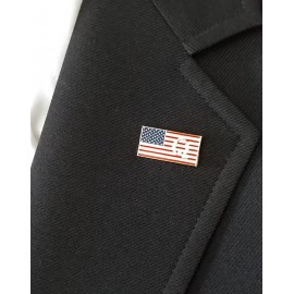 Q US Flag Pin Made in the USA