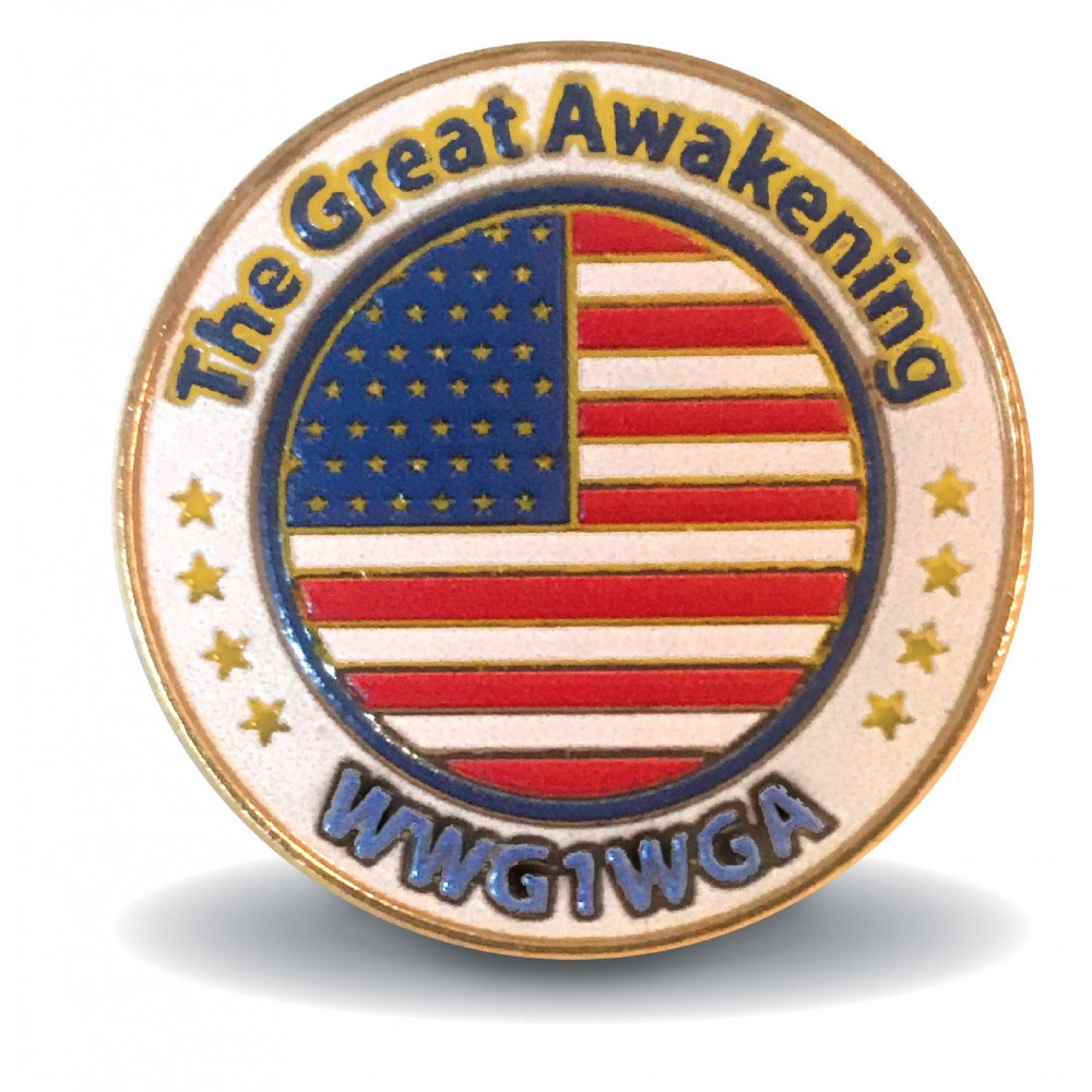 The Great Awaking WWG1WGA Lapel Pin American Made