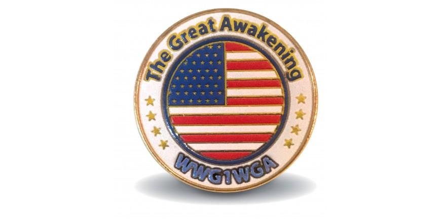 Thge Great Awakening Pin