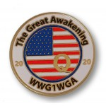 The Great Awaking WWG1WGA 2020 Q Lapel Pin ★ American Made