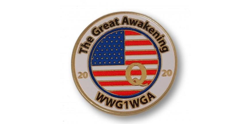 Thge Great Awakening 2020 Q Pin