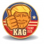 Trump 2020 KAG Pin Made in USA by Americans