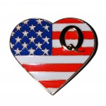 The Patriot Heart Q Flag Pin ★ Made in the USA