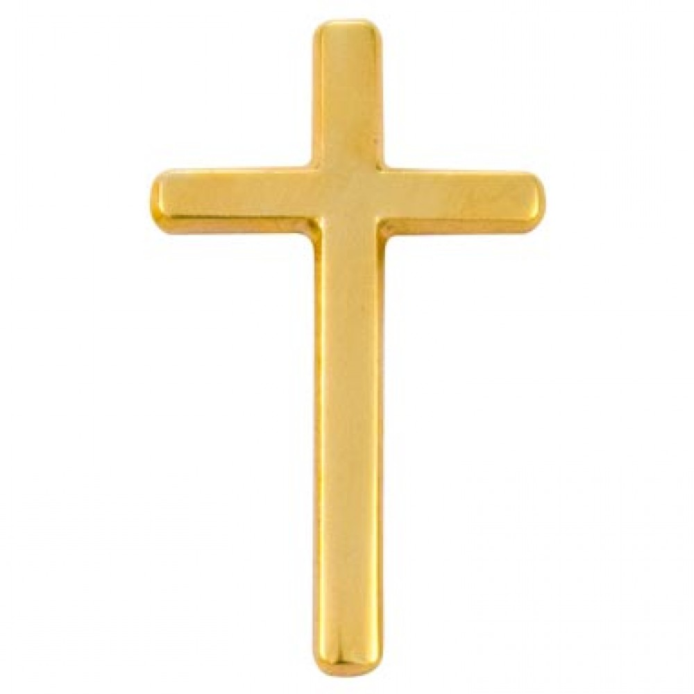 14k Gold Plated Cross Pin